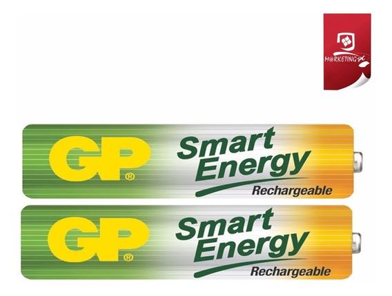 Pilas Baterias Recargables Gp Aaa 400 Mah 2 Unid Sellado