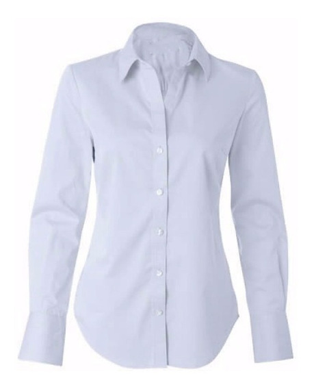 Camisete Kit 2 Camisa Social Feminina M/longa