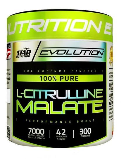 L Citrulina Malate 300 Gr Star Nutrition Oxido Nitrico Adn