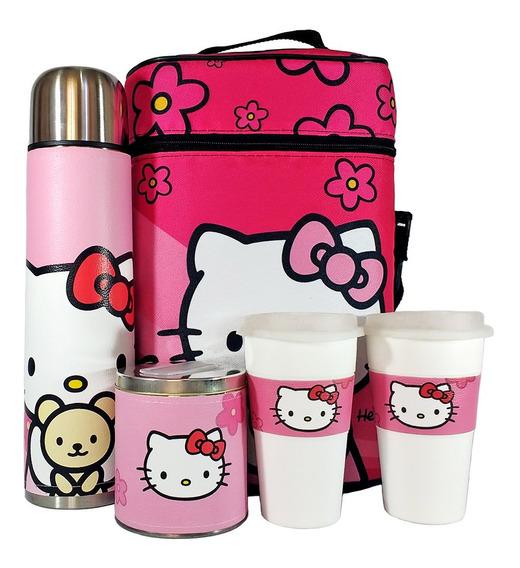 Equipo De Cafe Te Hello Kitty Set Kit Cuero Completo