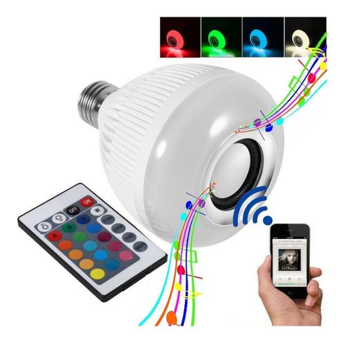 Imagem 1 de 2 de Lâmpada Led Music Bulb Bluetooth Rgbw Com Controle