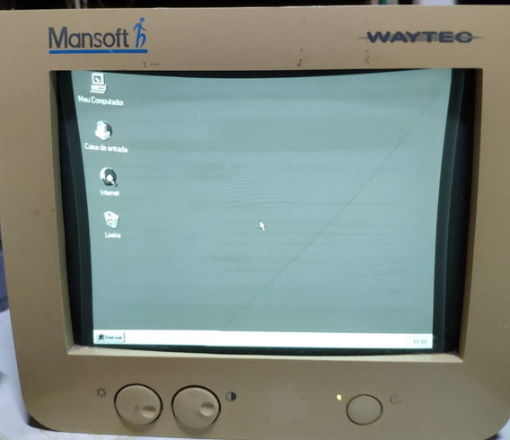 Monitor 9 Polegadas Vga Mono Waytec Mmsv-0910