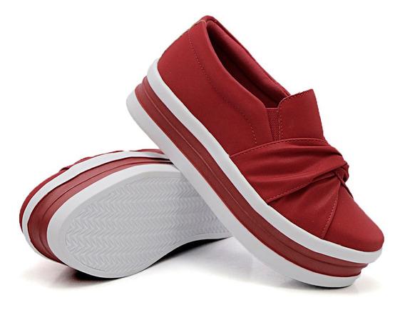 Slip On Modelo Nó Sola Alta 5 Cm Dk Shoes