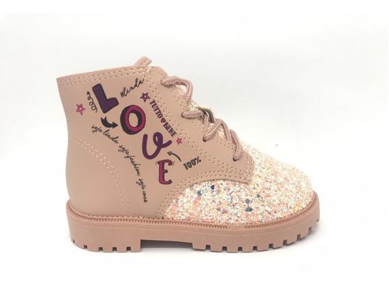 Bota Infantil Meninas Coturno Glitter Molekinha 2126102