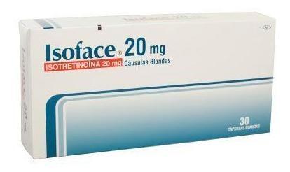 Isotretinoina Isoface 20mg Cápsulas Caja X30cap. Procaps Iso