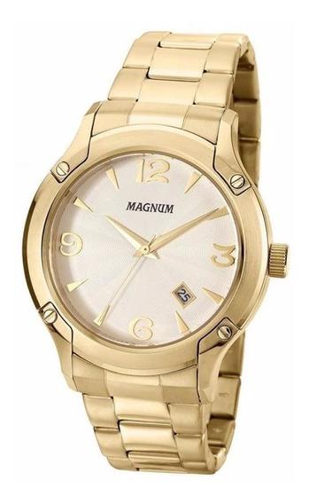 Relógio Magnum Masculino Ma21937h Dourado