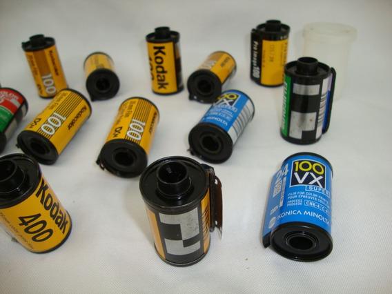 Lote De 15 Filmes Antigos Usados 35mm Decoração Foto Lote 02