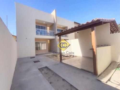Maravilhosa Casa Linear Independente Não Geminada Duplex 3 Suítes, Bairro Recreio Rio Das Ostras!! - Ca2095