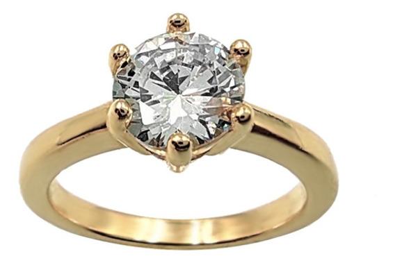 Anel Solitário The Ring Boutique Dourado Aliança Noivado