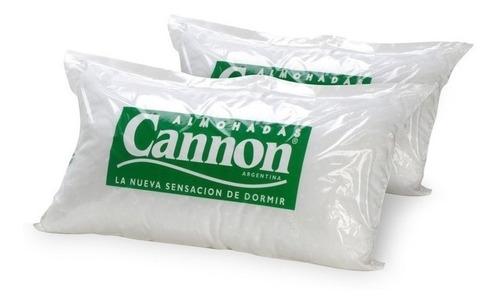 Imagen 1 de 4 de Combo 2 Almohadas Cannon Vellón 70x40 Algodon Lavable Stock