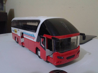 Miniatura Ônibus Rodoviário Em Metal Trucado Escala 1:55