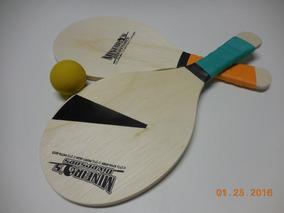 Frescobol Com Raquetes E Bola/ Jogo De Praia
