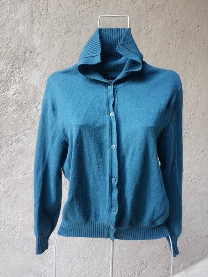 Varosco Sweter Sueter Cardigan Italiano L Aguamarina