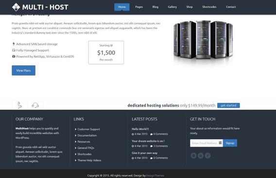 Multi Hosting 1.7 Whmcs Hosting Wordpress Theme