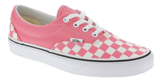 Tenis Vans Era Checkerboard Strawberry Rosa 11363 Original