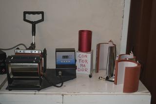 Estampadora Sublimadora De Tazas 4 En 1 + Conformador