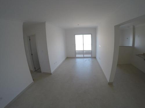 Apartamento Novo Com 2 Dormitórios 2 Vagas  À Venda, 77 M² Por R$ 480.000 - Boqueirão - Praia Grande/sp - Ap2777