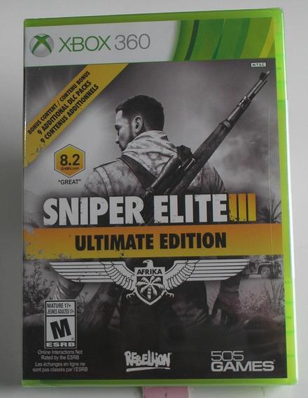 Sniper Elite 3 Ultimate Edition Xbox 360 Original Lacrado