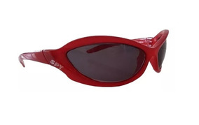 Óculos De Sol Spy Crato 42 Vermelho Escuro - Lente Preta