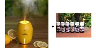 Kit Difusor Aroma Humidificador Purificador Aire + Esencia