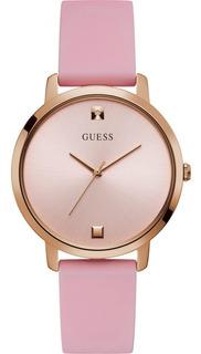 Reloj Guess W1210l3 Mujer Nova Oro Rosa Silicon 100%original