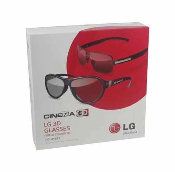 4 Óculos 3d Passivo Tv Lg Ag-f350/ag-f310 - Produto Original