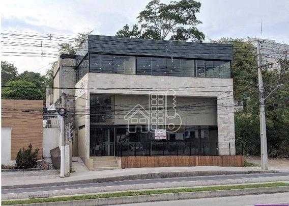 Loja Para Alugar Na Via Principal, 480 M² Por R$ 14.000/mês - Itaipu - Niterói/rj - Lo0028