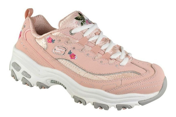 Tenis Skechers Dlites-bright Blossoms Rosa