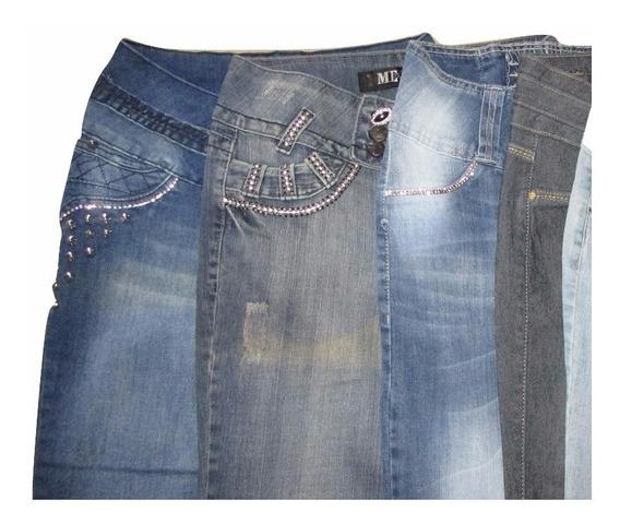 Kit 5 Calças Jeans Feminina Com Lycra Tamanhos 36 Ao 44