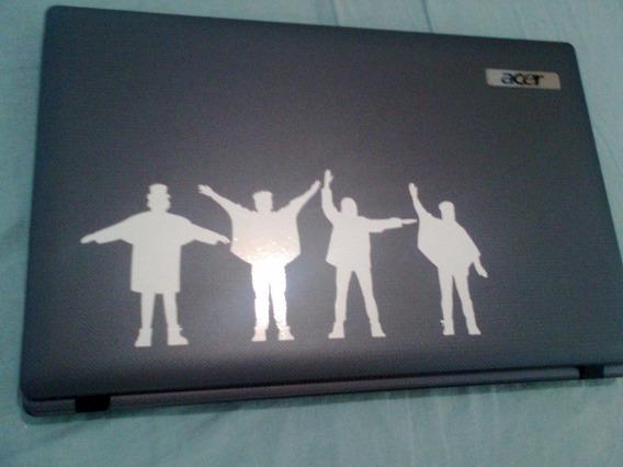 Adesivos The Beatles Help Notebook 15cm