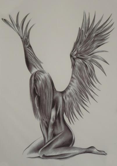 Tatuagem Temporaria - Perfeita - Realista Angel