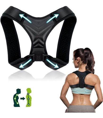 Imagen 1 de 10 de Corrector Postura Espalda Ajustable Faja Alivia Dolor Unisex