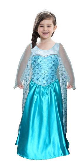 Disfraz Niña De Reina Elsa Princesa Frozen