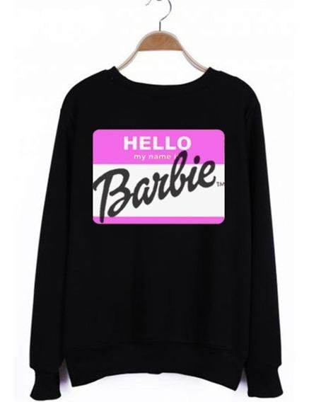 Sudadera Barbie My Name Is Sweater Moda Mujer Todas Tallas