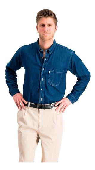 Camisa Casual Manga Larga De Mezclilla Oferta