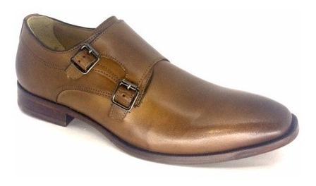 Sapato Masculino Democrata Garner Tan Couro 159105