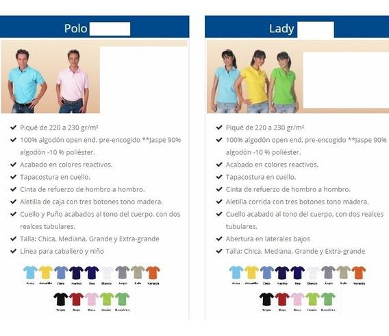 Playera Tipo Polo, Dif Colores, Mayoreo 12 Pzas Envío Gratis