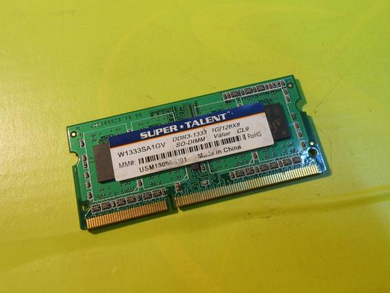 Memoria Supertalent Sodimm Ddr3 1333 1gb Notebook