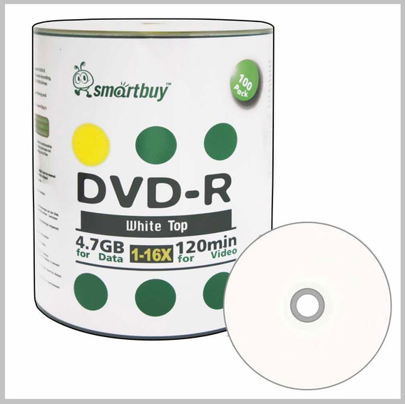 Dvd Virgen Smartbuy Tope Blanco 4.7gb 16x 120m No Printeable
