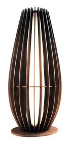 Luminaria Abajur De Chão Em Madeira C/ Soquete E-27 23x50cm