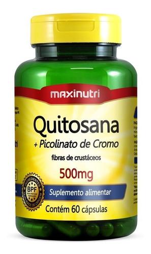 Imagem 1 de 2 de Quitosana + Picolinato De Cromo Maxinutri 500mg 60 Cápsulas