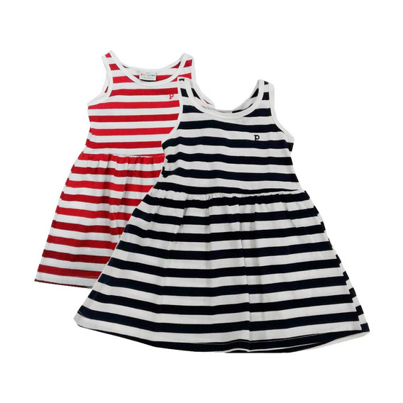 Vestido Niñas A Rayas Marca Pampero Original