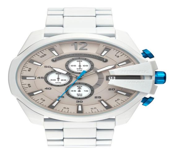 Relógio Diesel Masculino Megachief Branco Dz4502/1bn
