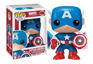 Muñeco Funko Pop Marvel Capitán América Bobble 06 Original!!