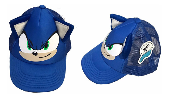 Gorra Sonic 2020 Infantil Ajustable