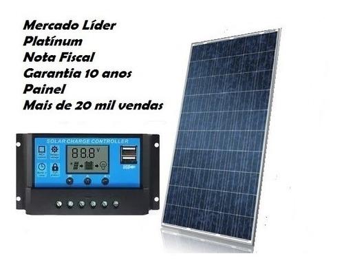 Imagem 1 de 4 de Kit Painel Placa Energia Solar Fotovoltaica 50w+10w  60w