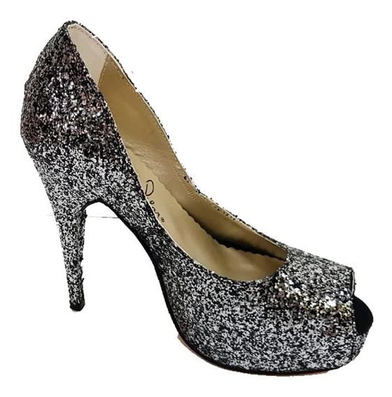 Zapato Boca De Pez Glitter - 2lp5108