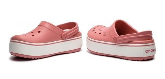 Crocs Plataform Rosa Oscuro Original Dxt Envíos Gratis