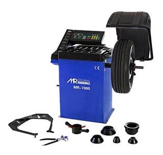 Balanceadora De Rodas Motorizada Mono Azul Mr7000 Maq Ribeir