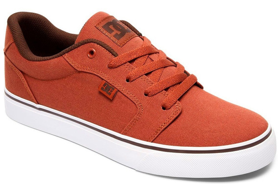 Tenis Dc Shoes Anvil Tx Tobacco White Brown